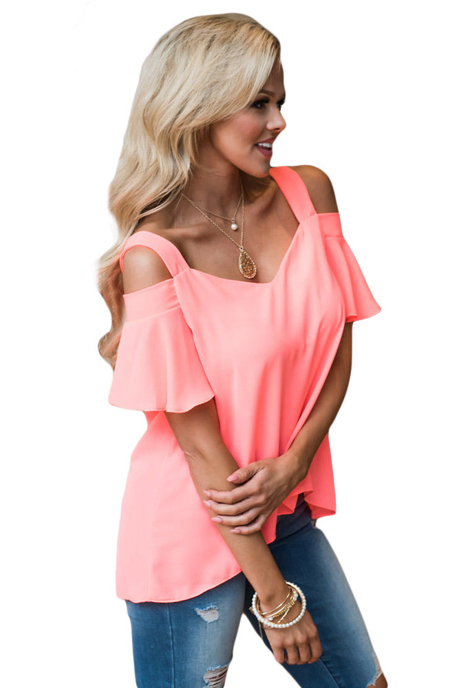Paula Open Shoulder Top Plus