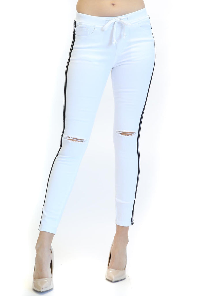 Jean Lee Knee Slit Jogger
