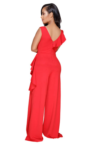 Renee Ruffle Wide Leg Jumpsuit