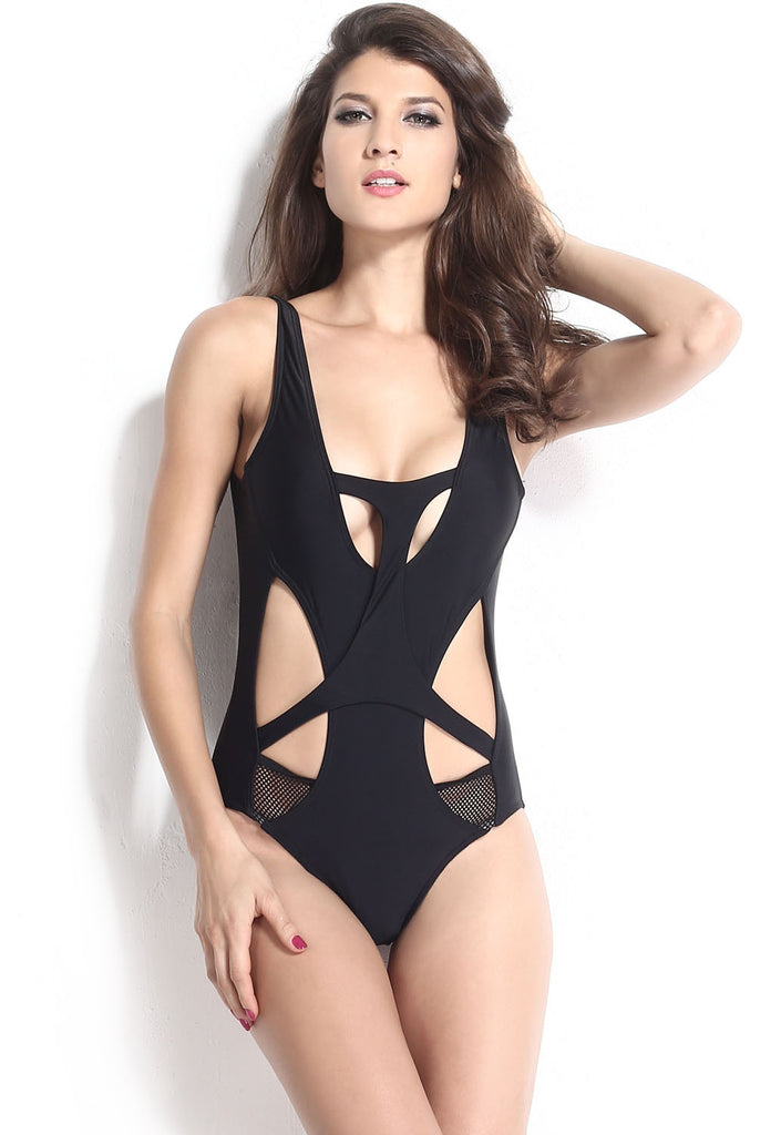 Sexy Hollow Out Black Monokini