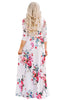 Misty Flower Print Wrap Dress