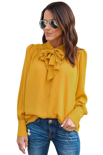 Demi Tie Neck Blouse