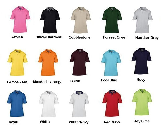 Men's Cotton Short Sleeve Gents Semi Fitted Anvil Polo Shirt T-Shirt Top AV303
