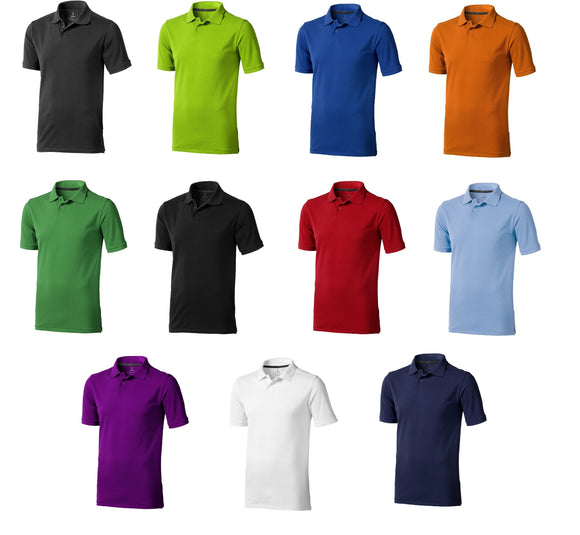 Men's Elevate Cotton Regular Fit Gent's Plain Work Leisure Polo Shirt EL020