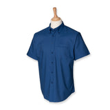Mens Henbury Classic Short Sleeve Oxford Wrinkle Resistant Dress Shirt H515