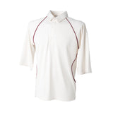 Finden & Hales Piped Coolplus® Cricket Shirt available in 2 Coloured trims LV103