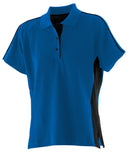 Ladies New  Contrast Polo Shirt T-Shirt Cotton Women's Top LV323
