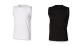Men's Stretch Cotton Mix Sleeveless Tank Top-T-Shirt Black White SF105