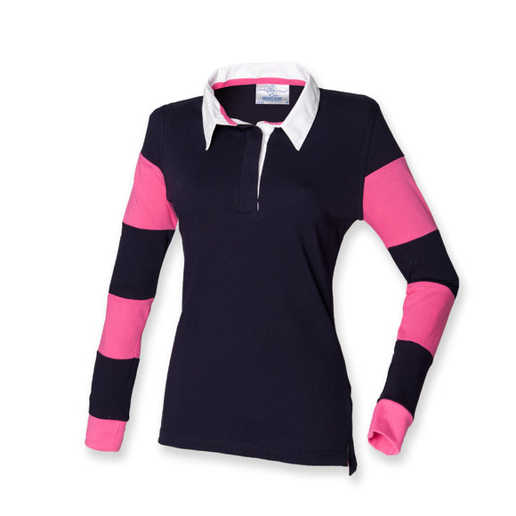 Front Row Ladies T-Shirt Long Sleeve Slim Fit Rugby Womens FR103