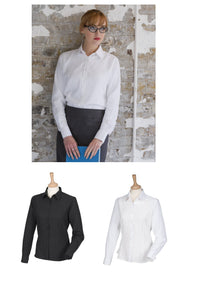 Ladies Long Sleeve Anti-Bacterial Easy Care Min Iron Shirt Womens Blouse H591