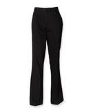 Ladies Flat Front Bootleg Chino Teflon Coated for Stain Resistance Trouser H602
