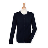 Ladies Cashmere Touch Acrylic Crew Neck Cardigan XXS - 4XL H762