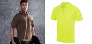 Just Cool Gent's Polo Shirt T-Shirt Breathable Performance Top S-3XL JC040