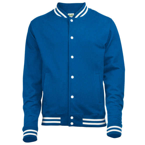 Unisex College Jacket Varsity Baseball American Style Mens Ladies Royal  JH041