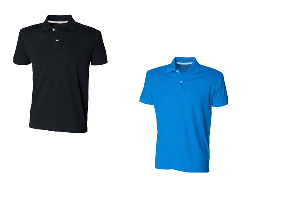 Gents Cotton Thick and Thin Yarn Polo Shirt Mens T-shirt Top SF49