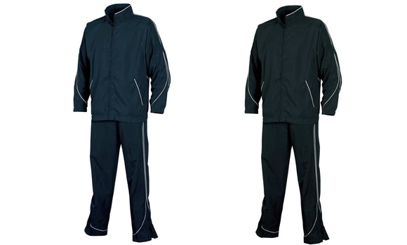 Tombo Unisex Adults Lined Sports Training Track Suit Black Navy TL42