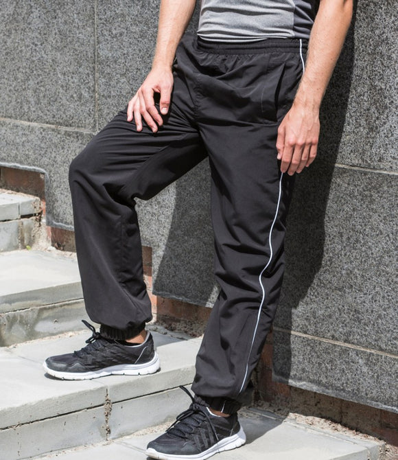 Gents Tombo Teamwear Training Sports Track Pant Joggers Cuffed Bottoms TL49