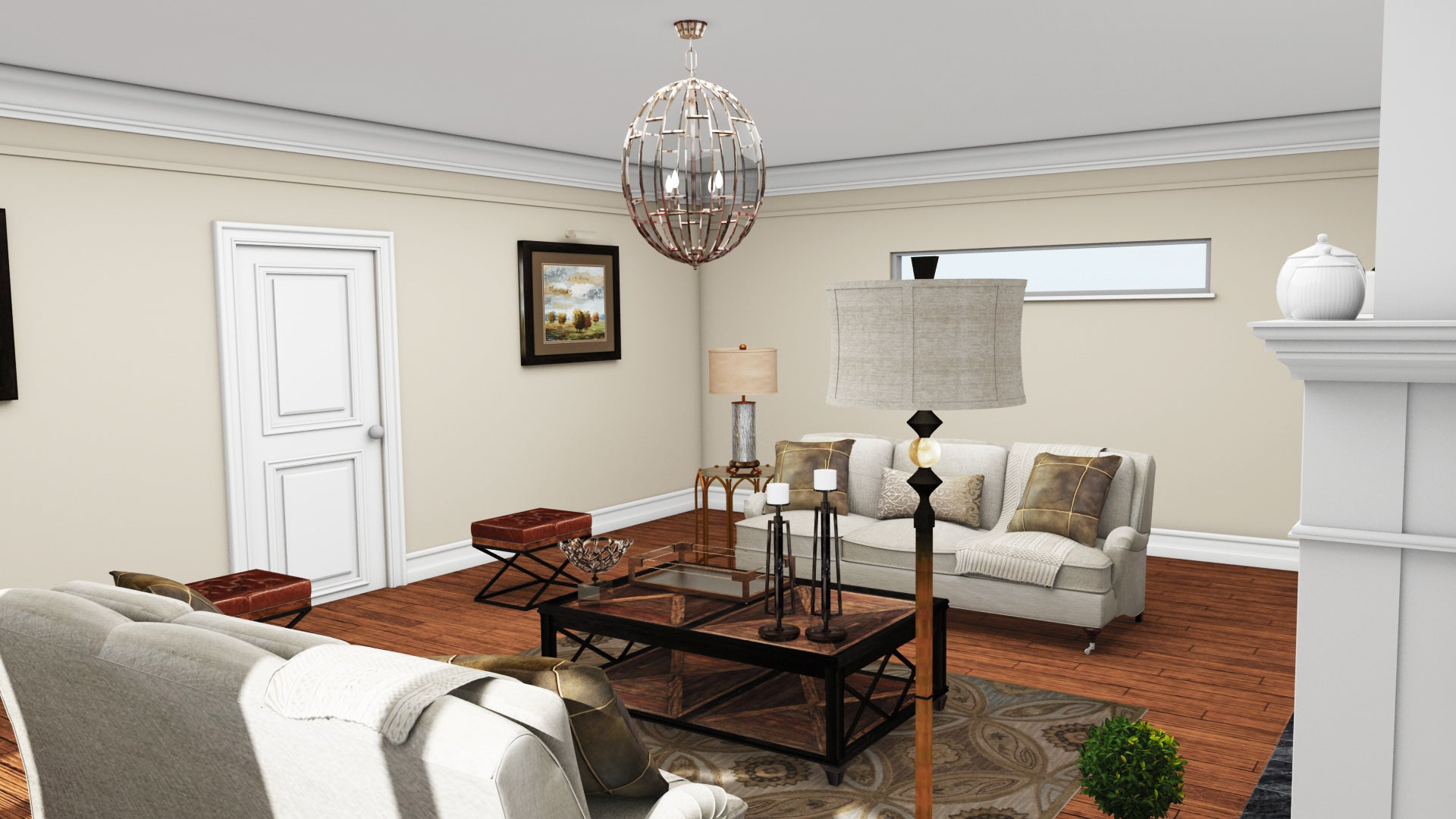 Traditional Living Room – DCLuxeDesign