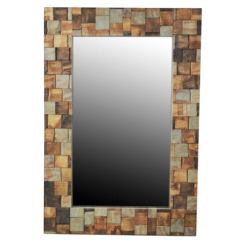 Wood Mosaic Mirror