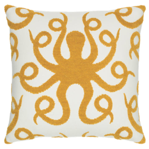 Octopus Gold Pillow