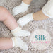 [Restock!] Silk Family-  シルクベビー靴下 【プレーン/レース】Silk Baby Socks: Plain/Lace trim