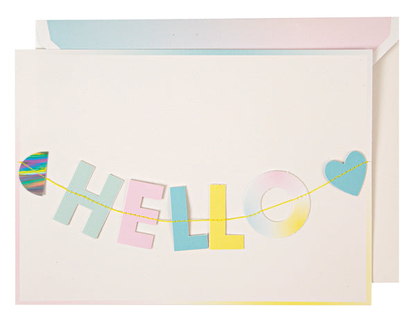 [30% off SALE] Meri Meri ガーランドカード 【Hello Little One】Garland Card: Hello Little One