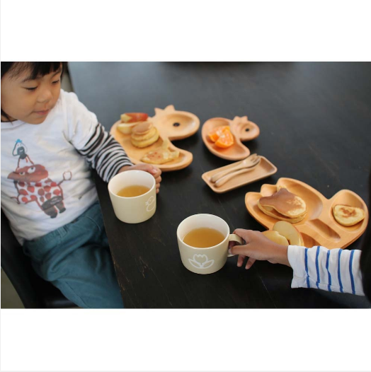 Time Concept-PETITS ET MAMAN -キッズプレートお食事セット【うさぎ・アヒル・ぞう・くるま】- Kids Plate, Cultery & Mug Gift Set