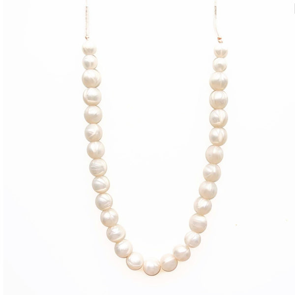 [New!] Loulou Lollipop-シリコンの歯固めママ用ネックレス(パール)Classic Necklace (Pearl)