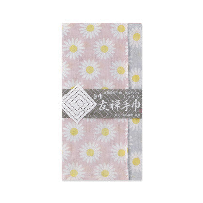"Shirayuki Fuukin 友禅手巾【マーガレット】-reversible Yuzen ""shukin"" (face towel)- Margaret"