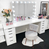 NEW! VC PLUSH VANITY STOOL