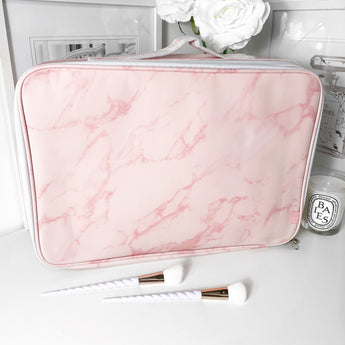 NEW! LARGE VC MAKEUP BAG - PINK MARBLE
