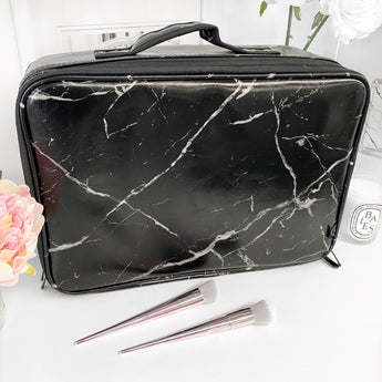 NEW! LARGE VC MAKEUP BAG - BLACK MARBLE