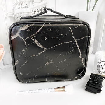 NEW! SMALL VC MAKEUP BAG - BLACK MARBLE