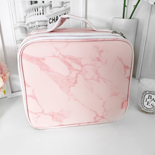 SMALL VC MAKEUP BAG - PINK MARBLE