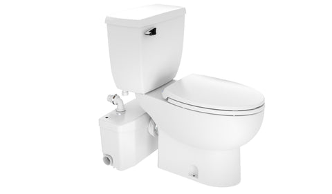 Saniplus Mascerating Pump and Toilet Upflush System Elongated Bowl