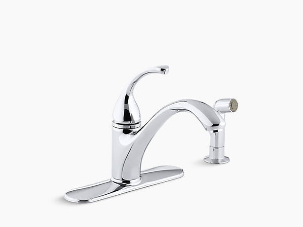 Kohler Forte One-Handle Kitchen Faucet with Side Spray K-10412-CP