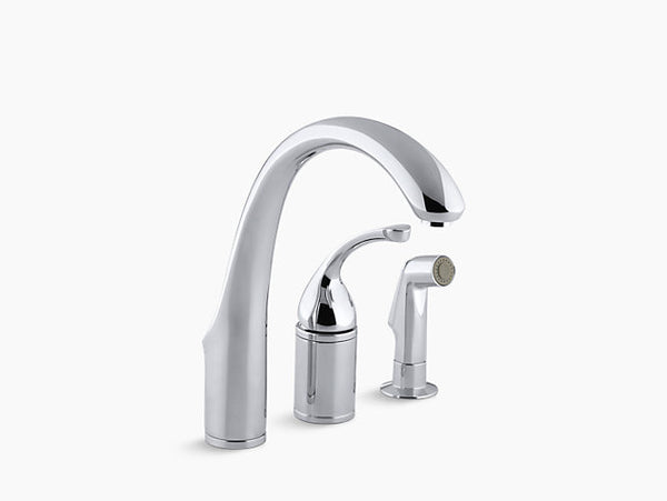 Kohler Forte Single-Handle Kitchen Faucet with Separate Handle and Side Spray K-10430-CP