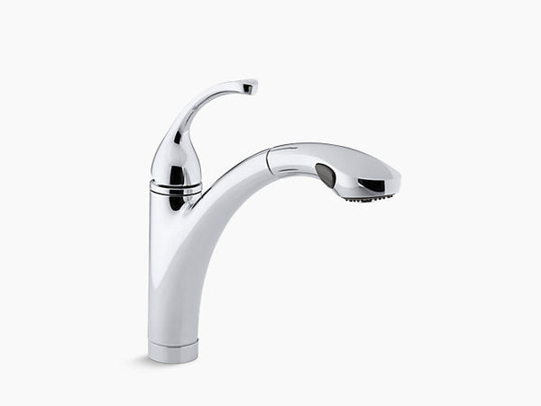 Kohler Forte Single-Handle Pull-Out Kitchen Faucet K-10433-CP