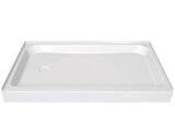 "Maax 60""x32"" Acrylic Shower Base - Left Drain - 105056-L-000"