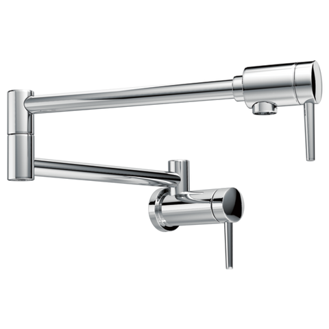 Delta Contemporary Wall-Mount Pot Filler Faucet 1165LF Chrome