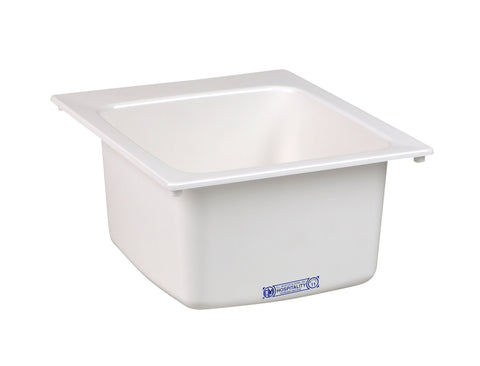 Mustee Drop-In 17 inch x 20 inch Single Bowl Laundry/Utility Sink 11 White