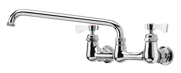 Krowne 8 inch center wall mount faucet with 12 inch swivel spout 14-812L