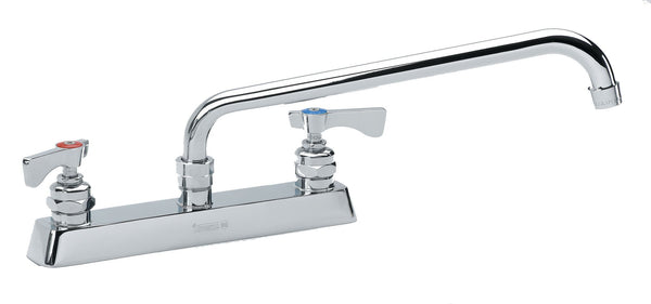 Krowne 8 inch deck mount faucet with 12 inch swivel spout 15-512L