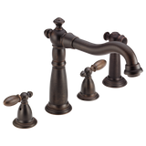 Delta Victorian Two Handle Widespread Kitchen Faucet with Side Spray 2256-RB-DST Venetian Bronze