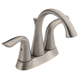 Delta Lahara Two Handle Centerset Lavatory Faucet Metal Pop-up 2538-SSMPU-DST Stainless