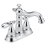 Delta Victorian Two Handle Centerset Lavatory Faucet Metal Pop-up 2555-MPU-DST Chrome