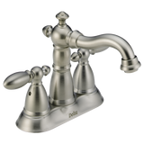 Delta Victorian Two Handle Centerset Lavatory Faucet Metal Pop-up 2555-SSMPU-DST Stainless
