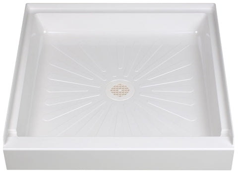 Mustee shower base 32 inch x 32 inch 3232 White
