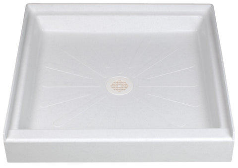 Mustee shower base 34 inch x 34 inch 3434 White