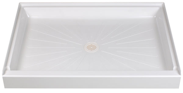 Mustee shower base 48 inch x 34 inch 3448 White